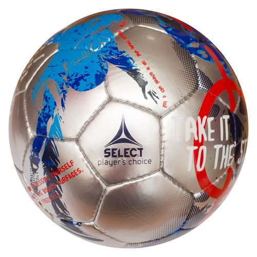 Футбольний м'яч Select Street Soccer - Grey-Red, артикул: 0955235992